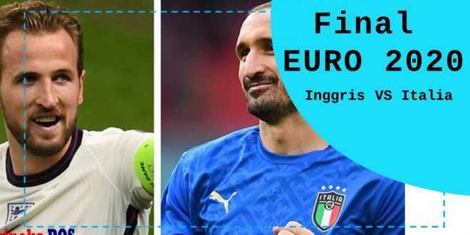 Final Euro 2020 Inggris vs Italia